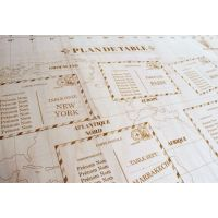 Plan de Table - Carte du monde