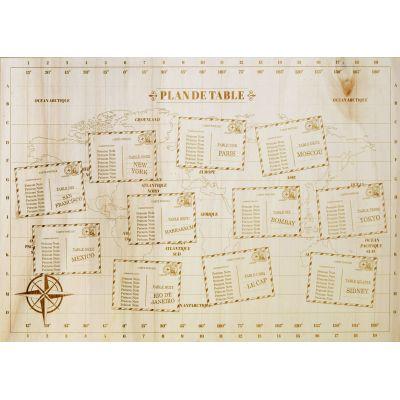 Plan de Table - Carte du monde