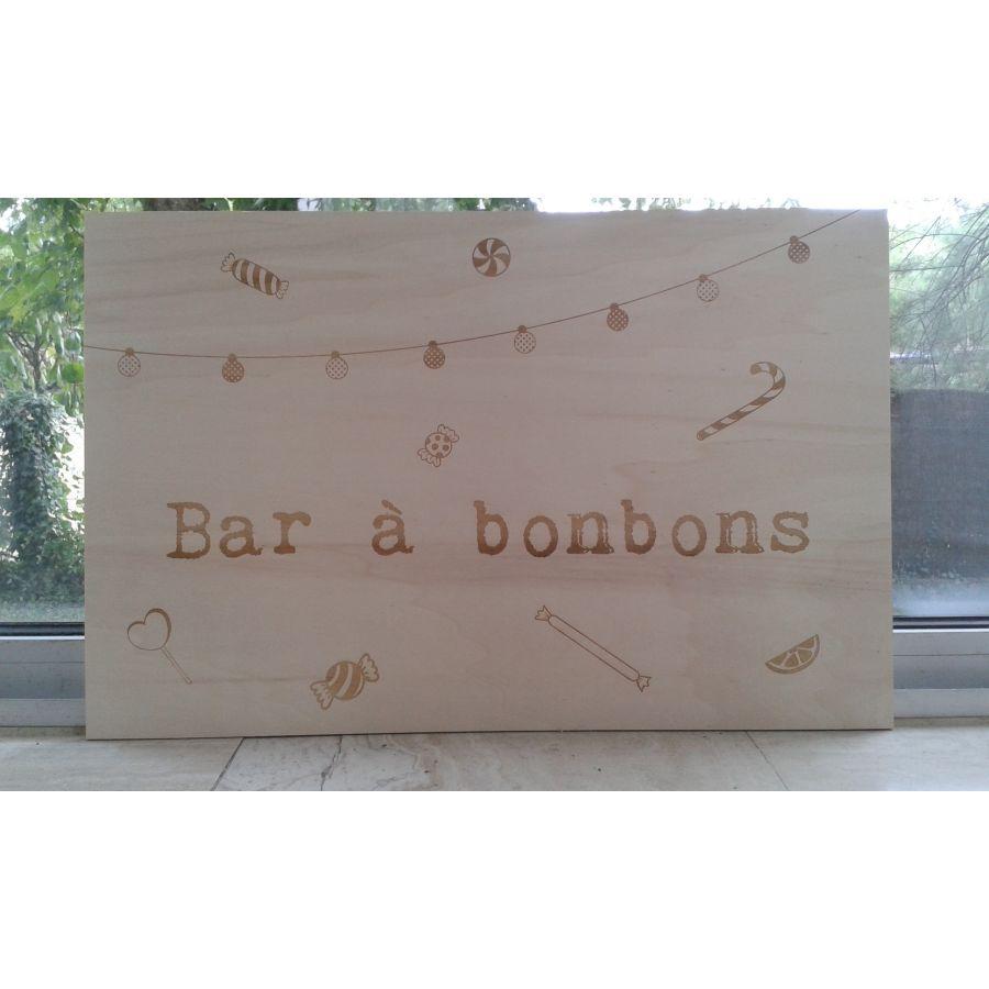 Ecriteau - Bar à bonbons